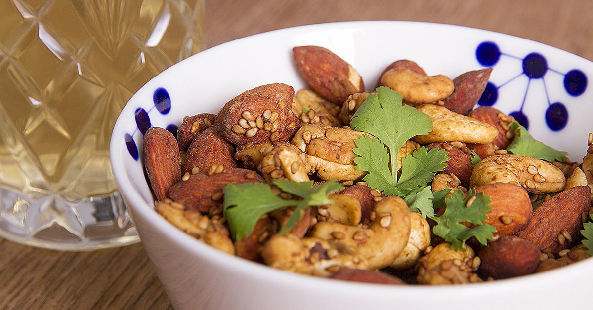 Tamari-ristede nødder