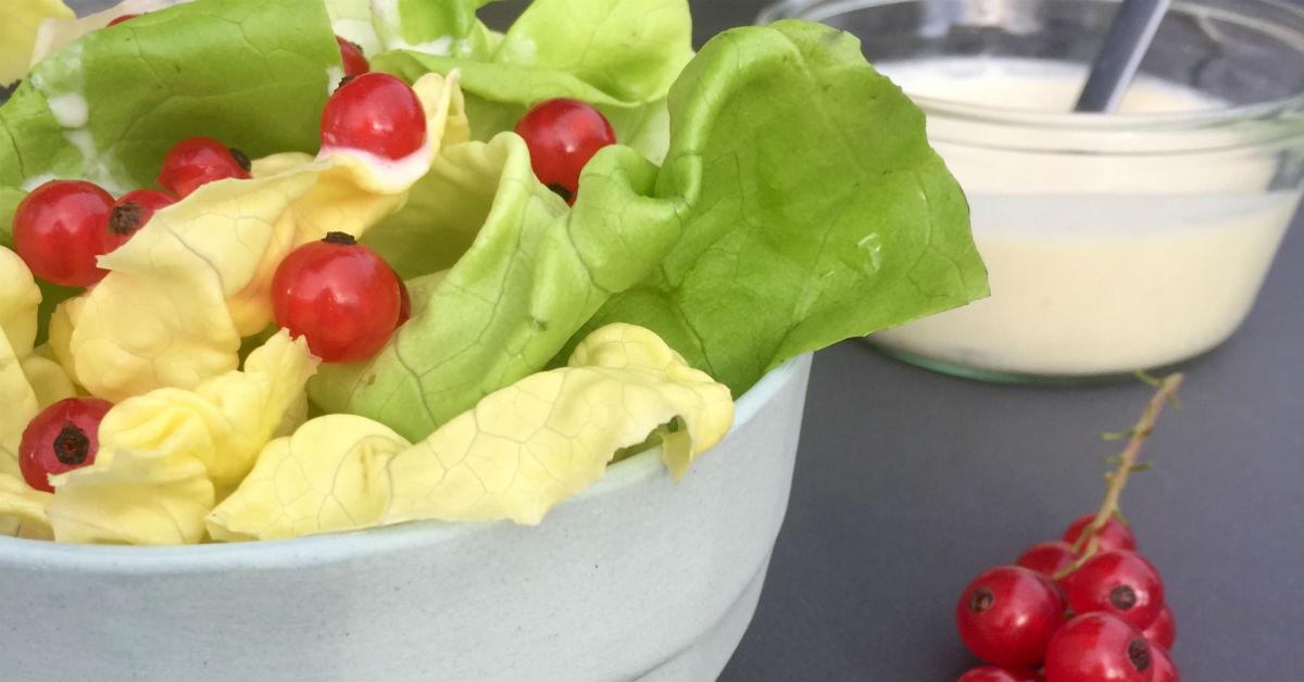 Salat med sukkerfri mormordressing